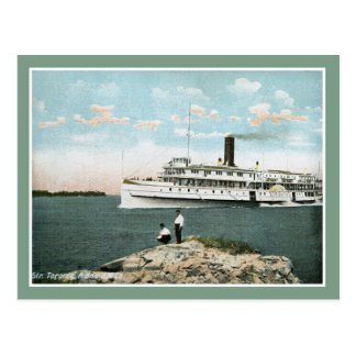 Vintage 1900s steamer riverboat Toronto Postcard