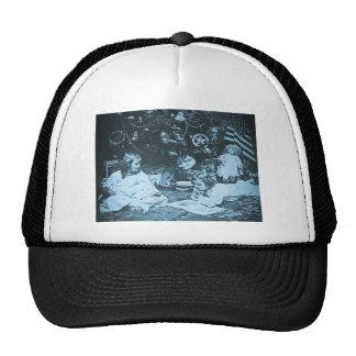 Vintage 1901 de la mañana de navidad Stereoview Gorra