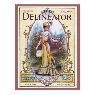 Vintage 1901 Delineator Magazine Cover Postcard
