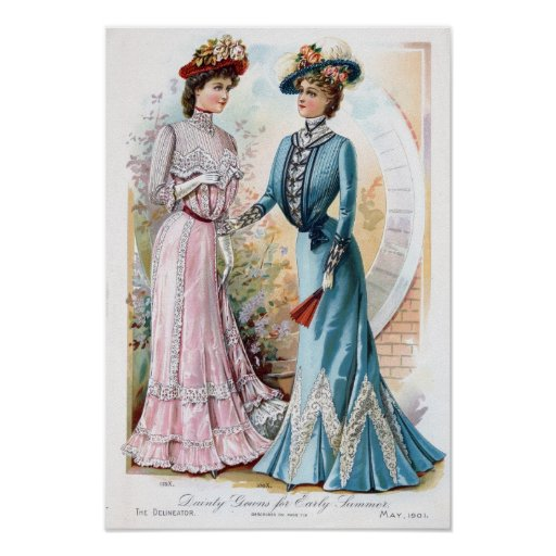 Vintage 1901 Early Summer Dresses Poster Posters