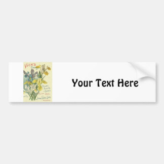 Vintage 1901 Vick's Seed & Plant Catalog Car Bumper Sticker