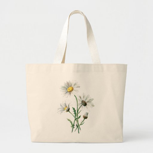 Vintage 1902 Daisies Old Wild Flower Illustration Tote Bags