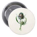 Vintage 1902 Old Scottish Thistle Wild Flower Button