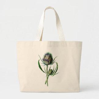 Vintage 1902 Scottish Thistle Antique Wild Flower Canvas Bag