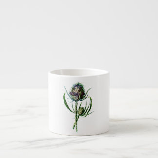 Vintage 1902 Scottish Thistle Antique Wild Flower Espresso Cup