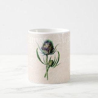 Vintage 1902 Scottish Thistle Old Wild Flower Coffee Mug