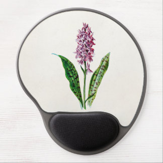 Vintage 1902 Spotted Orchid Wild Flower Orchids Gel Mouse Pad