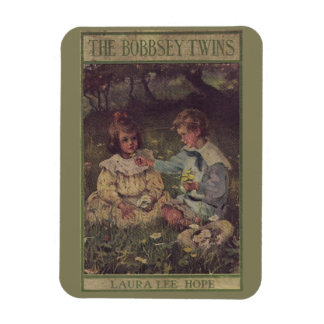 Vintage 1904 Bobbsey Twins Book Cover Rectangular Photo Magnet