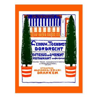 Vintage 1904 Dutch coffeehouse Dordrecht ad Postcard
