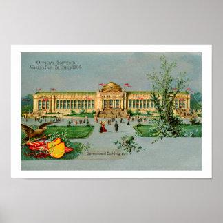 Vintage  1904 Official Souvenir St. Louis fair Posters
