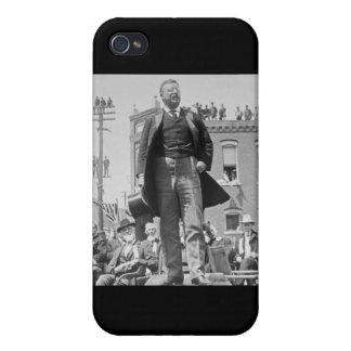 Vintage 1905 de la tarjeta de Teddy Roosevelt Ster iPhone 4 Protectores
