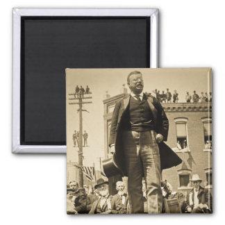 Vintage 1905 de la tarjeta de Teddy Roosevelt Ster Imán Cuadrado