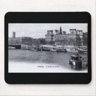 Vintage 1905 de L'Hotel de Ville París Francia Alfombrillas De Ratones