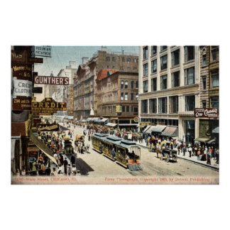 Vintage 1905 del St Chicago IL del estado Impresiones