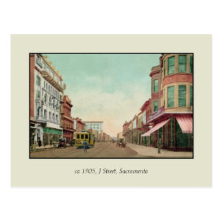 Vintage 1905 J Street, Sacramento, Cal. Postcard