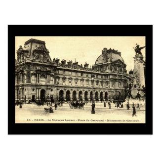 Vintage 1905 Louvre, Paris, France Postcard