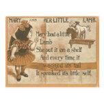 Vintage 1905 Maria y su postal de la rima del cord