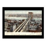 Vintage 1907 del puente de Brooklyn NY Postales