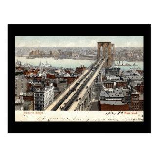 Vintage 1907 del puente de Brooklyn NY Tarjetas Postales