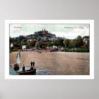 Vintage 1907 Hamburgo Alemania Blankenese Suellbe Impresiones