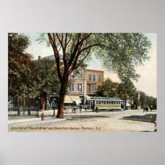 Vintage 1908 de Montclair NJ Póster