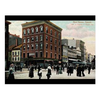 Vintage 1908 del St. New Haven de la iglesia Postales