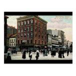 Vintage 1908 del St. New Haven de la iglesia Postal