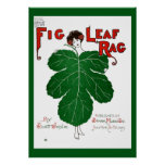 Vintage 1908 Fig Leaf Rag Sheet Music Cover copy Poster
