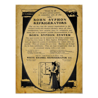 Vintage 1909 Bohn Syphon Refrigerator Print