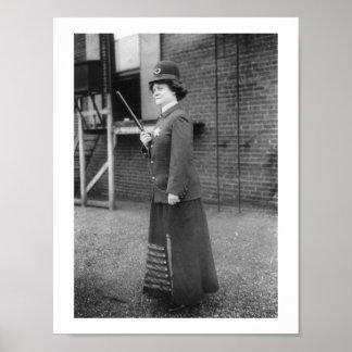 Vintage 1909 del Suffragette de la mujer policía Póster
