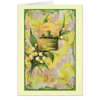 Vintage 1909 Happy Birthday Greeting Card