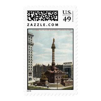 Vintage 1910 de Cleveland del monumento de los sol