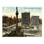 Vintage 1910 de Cleveland Ohio de la arena pública Tarjeta Postal