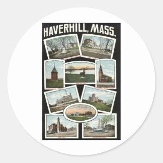 Vintage 1910 de Haverhill Massachusetts de los Etiqueta Redonda