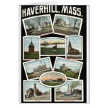 Vintage 1910 de Haverhill Massachusetts de los sal Tarjetas