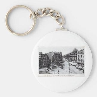 Vintage 1910 de Lyon, Francia Llavero Personalizado