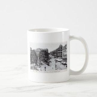 Vintage 1910 de Lyon, Francia Tazas De Café