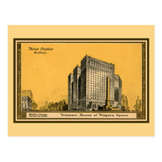 Vintage 1910 (first) Hotel Statler Buffalo NY Postcard