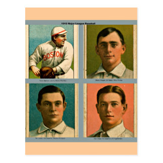 Vintage 1910 Major League Baseball Collage Postcard