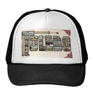 Vintage 1910 TOLEDO, OH Large Letter Design Trucker Hat