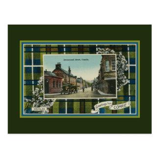 Vintage 1910s Scottish Douglas clan Tartan Comrie Postcard