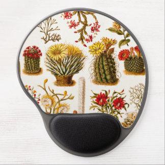 Vintage 1911 Cactus Flower Old Floral Illustration Gel Mouse Pad
