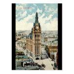 Vintage 1911 de los WI de ayuntamiento Milwaukee Postales