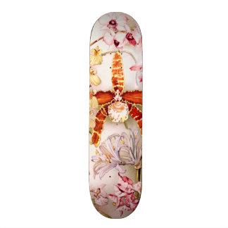 Vintage 1911 Orchid Pink Flower Old Illustration Skateboard Decks