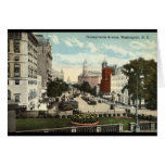 Vintage 1912 de Repro del Washington DC de la aven Felicitacion