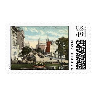 Vintage 1912 del Washington DC de la avenida de Sellos Postales