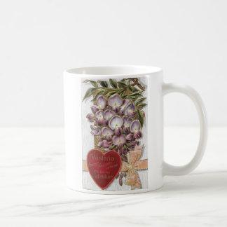Vintage 1912 Purple Wistaria Coffee Mug