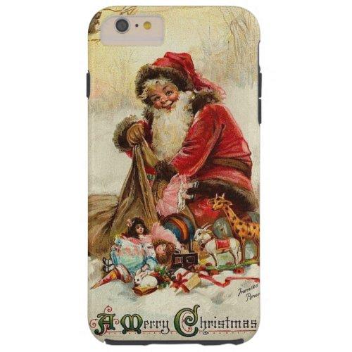 Vintage 1912 Santa Claus Tough iPhone 6 Plus Case