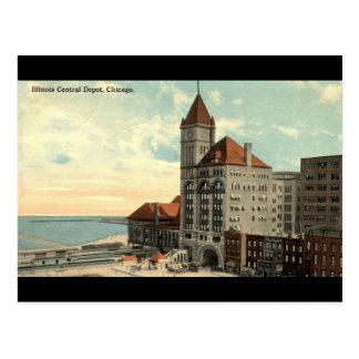 Vintage 1913 de Chicago Repro del depósito central Tarjetas Postales