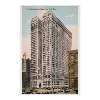 Vintage 1913 Equitable Building, New York City Poster